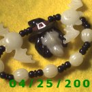 Beads, Bats and Witch Stretch Bracelet    B004