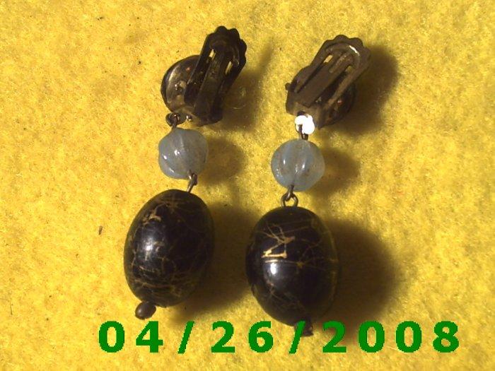 Bead Clip On Earrings      095