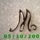 "Gold Letter ""M"" Pin  (108)"