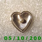 Gold Heart w/Pearl Pin  (A072)