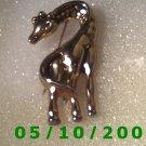 Gold Garaffe Pendant or Pin  A076