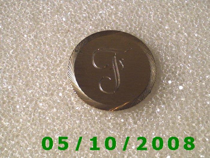 Silver Letter F Pin