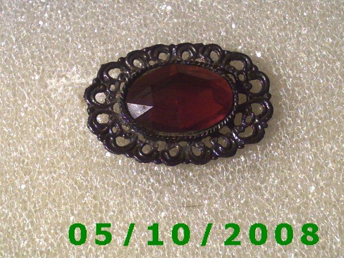Filligre w/Red Stone Pin 068