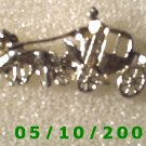 Silver Stage Coach Pin
