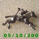 Silver Racehorse n Jockey Pin