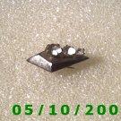 Silver Pin w/Rhinestones   (014)