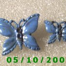 1pr. Blue Butterfly Pin