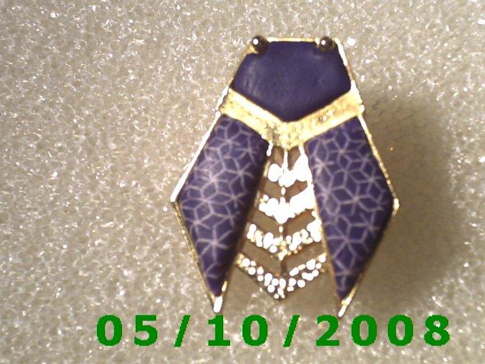 Gold n Blue Bug Pin