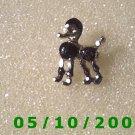 Silver n Black Poodle Pin