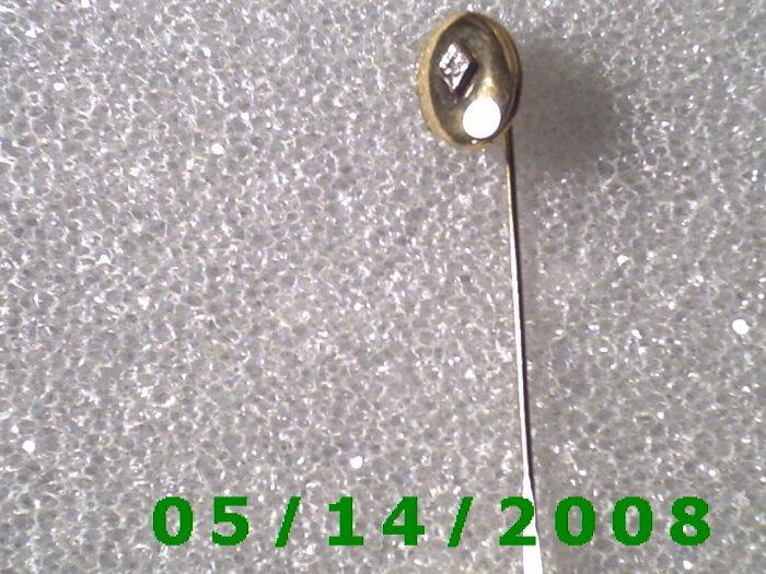 Gold Stick Pin and Locket with Diamond.........  B052