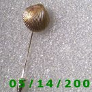 Gold Shell Stick Pin Signed Trifari   B050