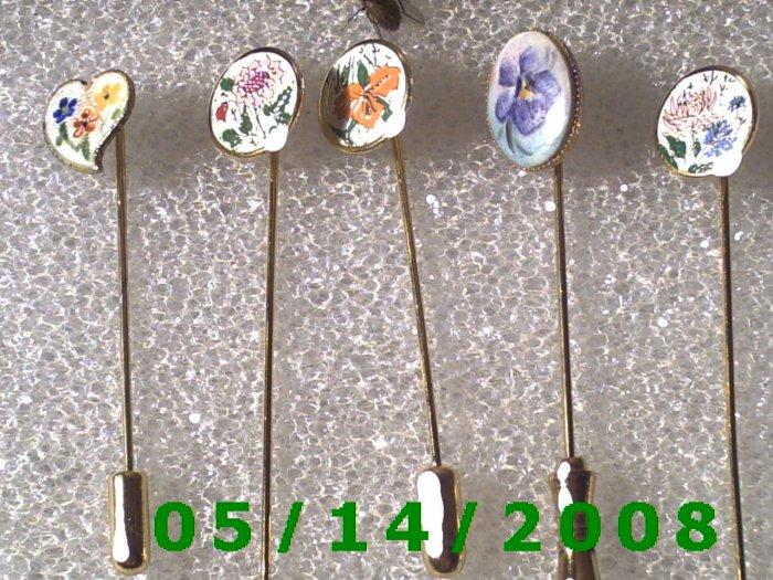 5 ea Stick Pins   B049