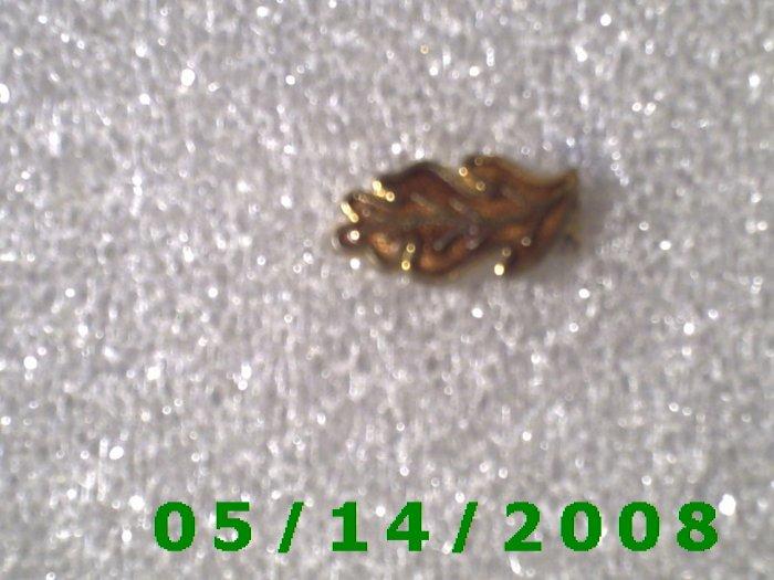 Gold n Brown Leaf Pin    B043