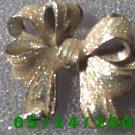 Silver n Glitter Ribbon Brooche    B039