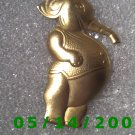 Gold Elephant Pin    B035