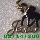 Gold n Black Elephant Jesus Pin    B025