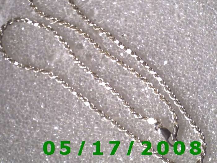 """18"""" Silver .925 Necklace 2mm Italy (001)"""