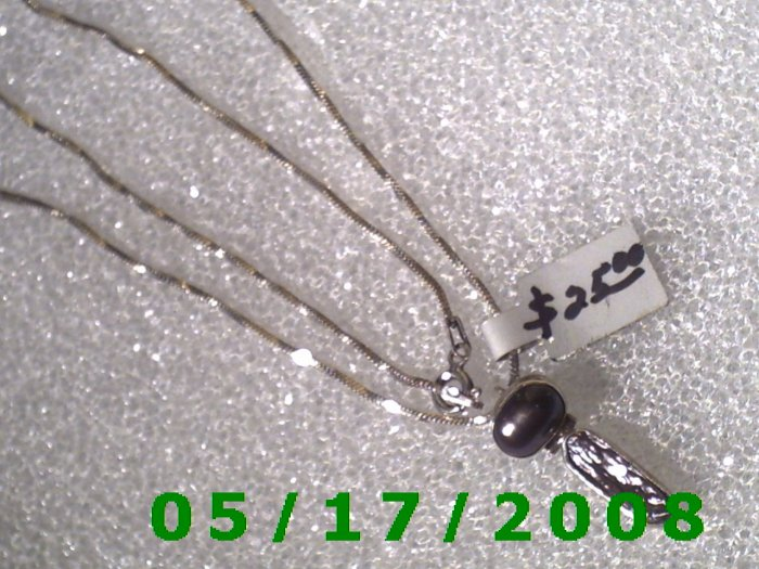 """16"""" Silver .925  Necklace 1.5mm w/charm .925 (005)"""