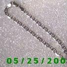 """7""""   Silver  .925  Bracelet  3mm Italy (Roll1013)"""