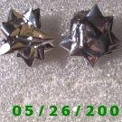 Silver Bow Pierced Earrings     C002