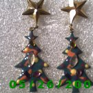 Star and Christmas Tree Pierced Earrings     C009
