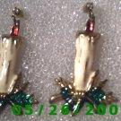 Candle Pierced Earrings     C013