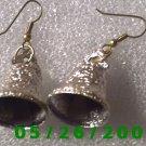 Silver Bell Pierced Earrings     C017