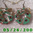 Wreath Pierced Earrings     C019