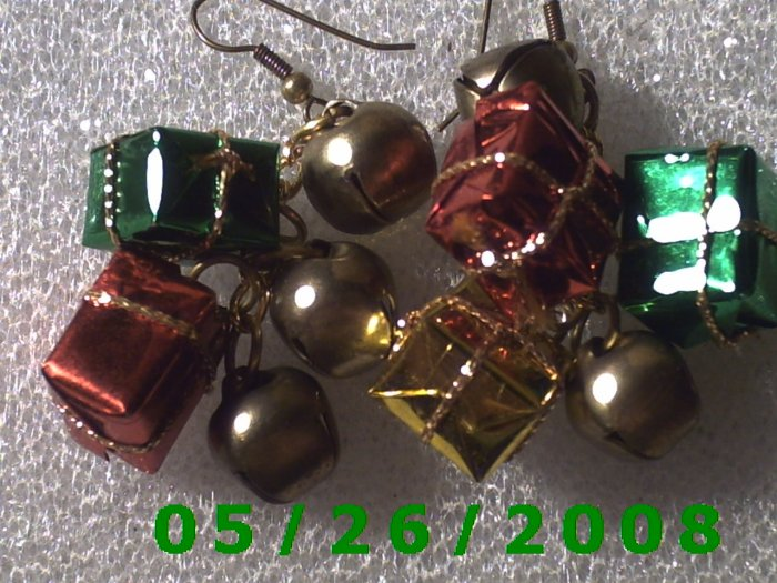 Presents and Bells Pierced Earrings     C024