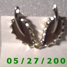 Silver Leaf, Clip On Earrings  D015 1011