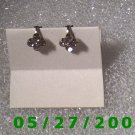 Silver w/Rhinestones Clip On Earrings  (D010)