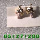 Gold w/flower Clip On Earrings    D003