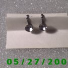 Silver w/clesr stone Screw Back Earrings    D002