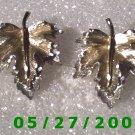 Silver Leaf Clip On Earrings    D018 1010