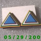 Triangles Clip On Earrings    D037