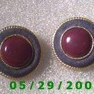 Gold Clip On Earrings    D039