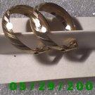 Gold Hoop Clip On Earrings    D043