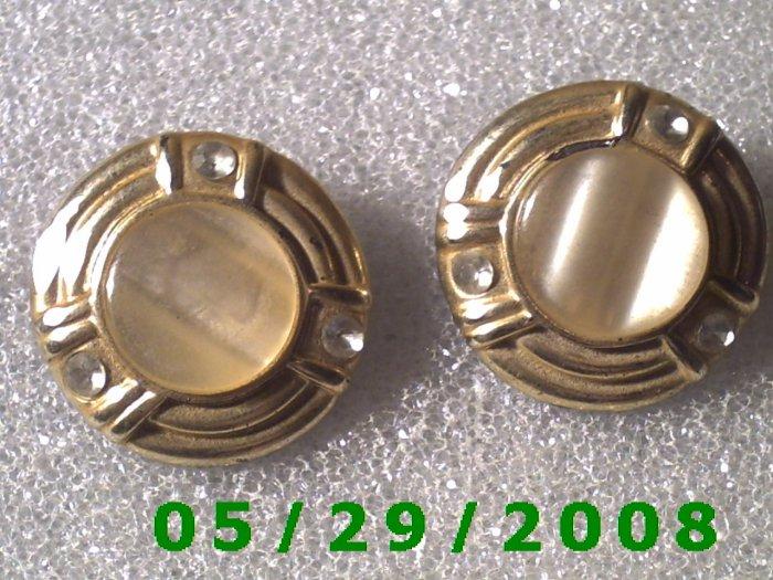 Silver Clip On Earrings    D044