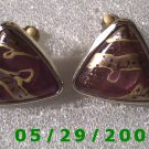 Triangle Clip On Earrings    D050