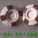 Red n White Clip On Earrings    D056