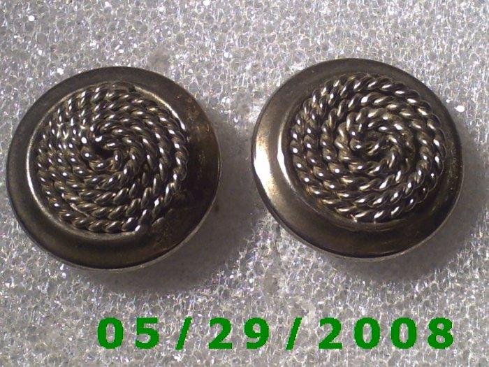 Silver Clip On Earrings    D060