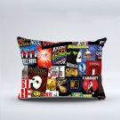 "Broadway Musical Collage Two Sides Printed Pillow cover 20""x30"" Rectangle Pillow case cushion"