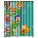 "Bubble Guppies Kid Child Waterproof Fabric 12 Hooks Bathroom Shower Curtain 60""x 72"""