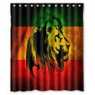 "Reggea Lion Rasta Waterproof Fabric 12 Hooks Bathroom Shower Curtain 60""x 72"""