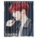 "KPop Music G Dragon Bing Bang Exo Jusu Waterproof Fabric 12 Hooks Bathroom Shower Curtain 60""x 72"""