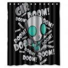 "Invader Zim Gir Dib, Zim and Gaz Waterproof Fabric 12 Hooks Bathroom Shower Curtain 60""x 72"""