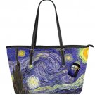 Doctor Who Tardis Starry Night Van Gogh ( Big Bag Twin Sides ) Lady Ladies PU Leather Shoulder bag