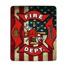 New Fire Dept Ultra-Soft Micro Fleece 50*60 One Side Baby Childrents All-Season Bed Blanket