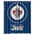 "Personalized Winnipeg Jets Ice Hockey Team Hockey League Waterproof Bathroom Shower Curtain 60""x 72"""