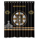 "Personalized Boston Bruins NHL Ice Hockey Team Hockey League Bathroom Shower Curtain 60""x 72"""